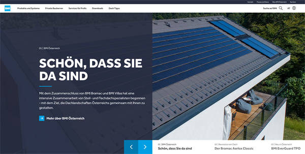 Website BMI Gruppe